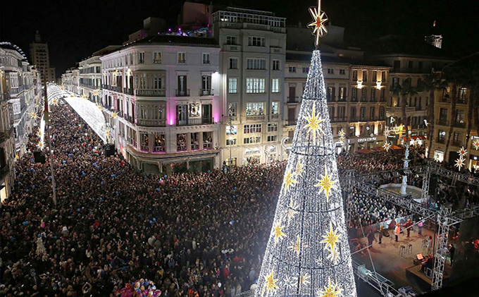 A world of Light & Sound in Calle Larios (Málaga)