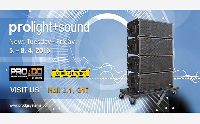 Pro DG Systems at Prolight + Sound 2016